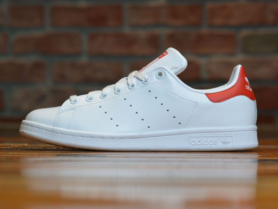 quality design 04f33 82d8b ... wholesale adidas originals stan smith mens shoes m20326 white red  leather trainers nib 02ff3 82bbc ...