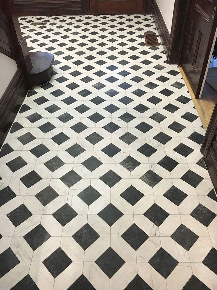 cassettone porcelain mosaic floor