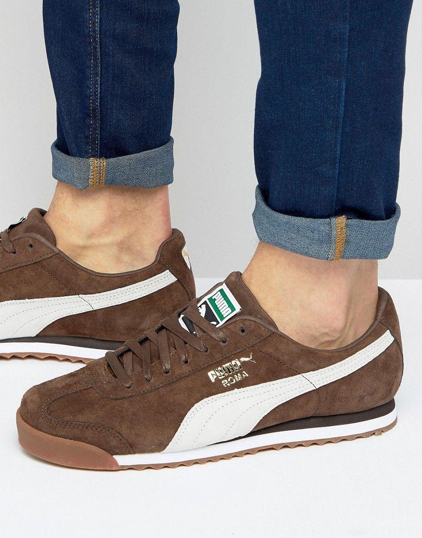 PUMA ROMA SNEAKERS IN BROWN 36354407 - BROWN.  puma  shoes    11b691531
