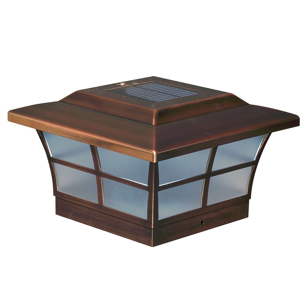 Classy Caps 6x6 Copper Plated Prestige Solar Post Cap Sl086 Set Of 2 Solar Post Caps Fence Post Caps Post Cap