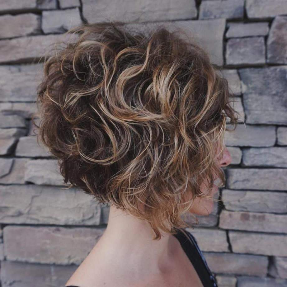 Inverted Bob for Loose Curls | Short curly bob hairstyles, Thick hair styles, Hairstyles for ...