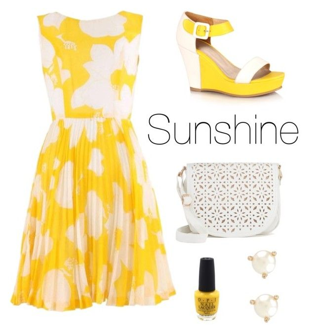 """""""Sunny"""" by skylak1387 ❤ liked on Polyvore featuring Under One Sky, OPI and Kate Spade"""