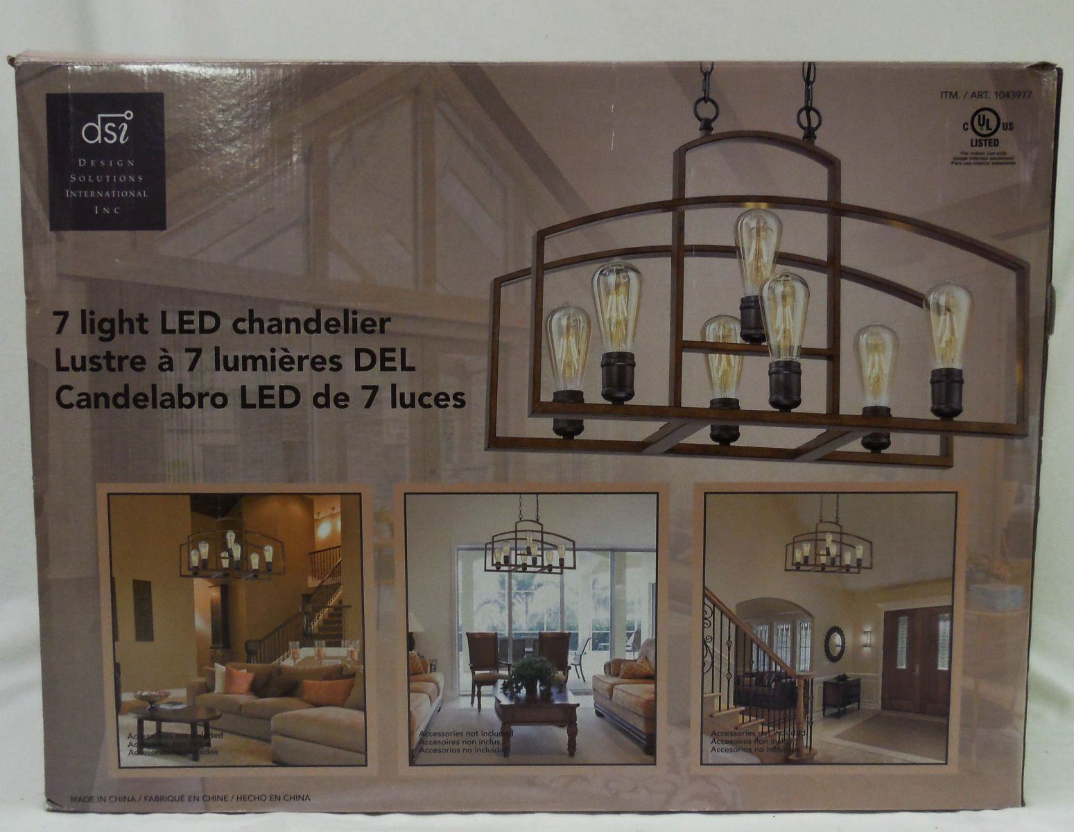 Design Solutions International 7 Edison Light Led Chandelier Want