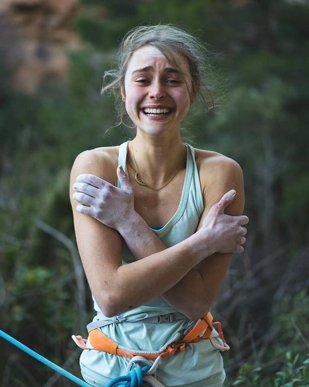 how it feels to climb the hardest rock climbing route a woman has