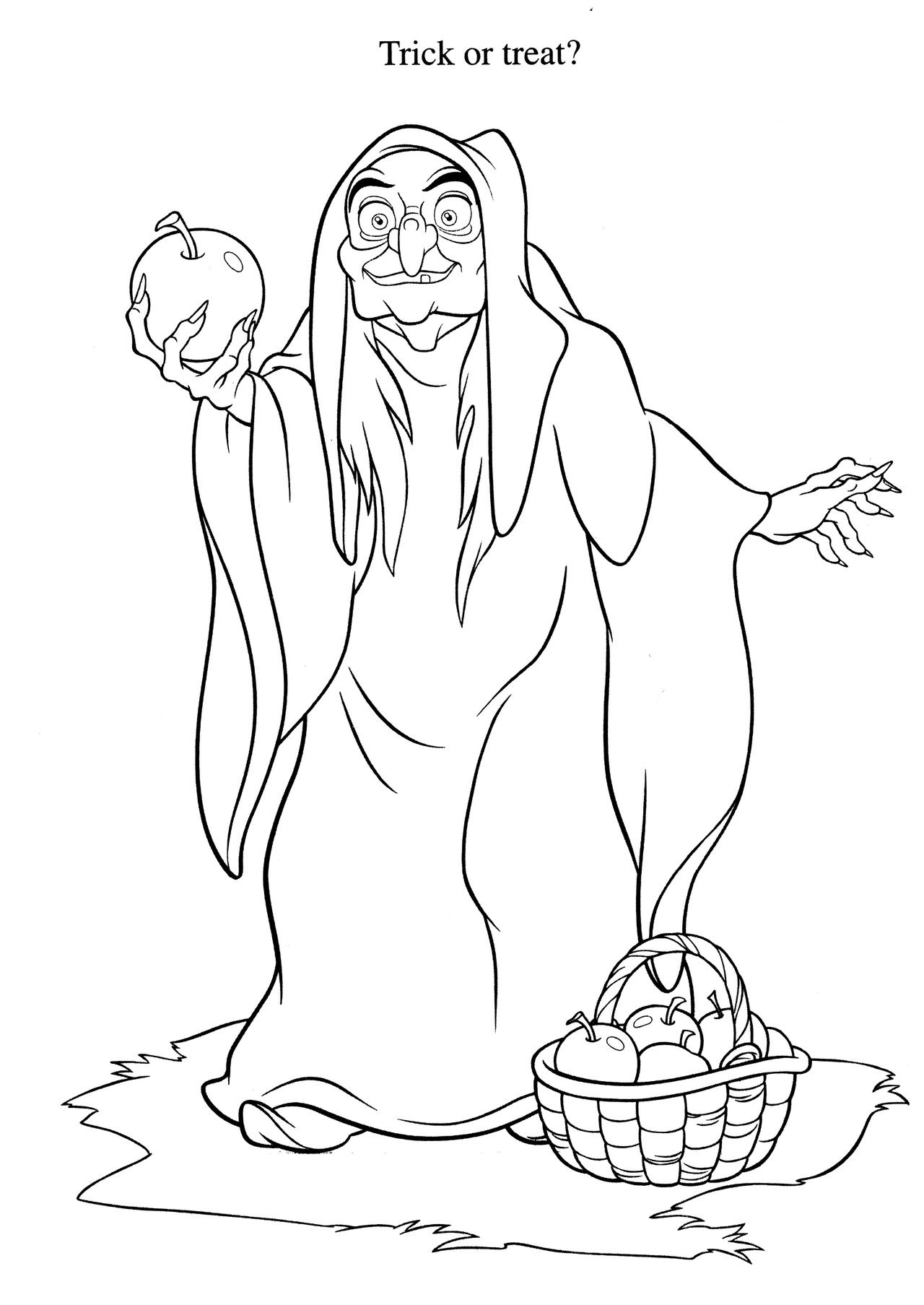 Disney villains coloring pages online - Snow White Witch Colouring Page