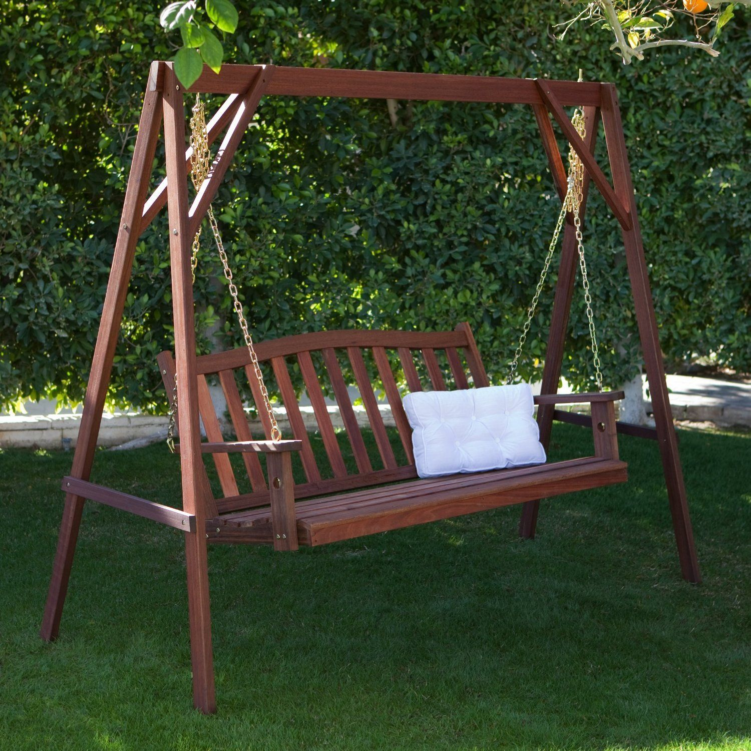 Porch swing u stand set durable red shorea woodpound weight