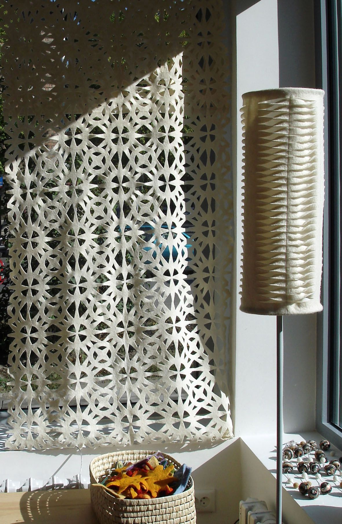Perforated Felt Lampshades and Curtains designed and handmade by Tumar Art Group.