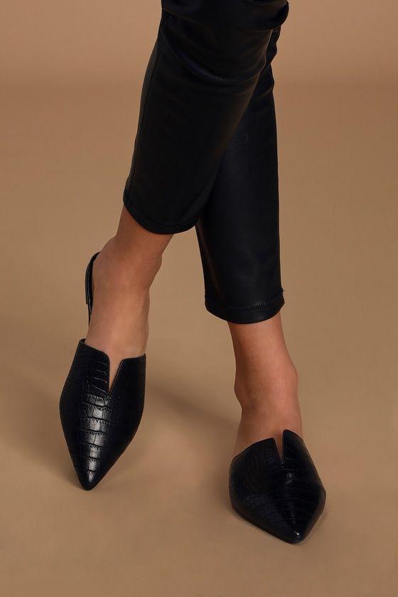Mule shoes outfit, Black mules shoes