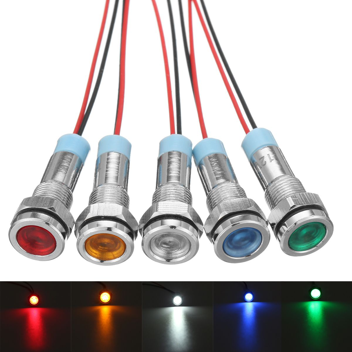 12v 6mm Led Indicator Light Pilot Dash Lamp Motorccyle Car Truck Boat Metal Indicator Lights Led Indicator Cars Trucks