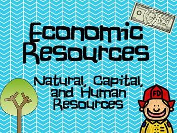 Economic Resources PPT- Natural, Capital, Human Resources Intro ...