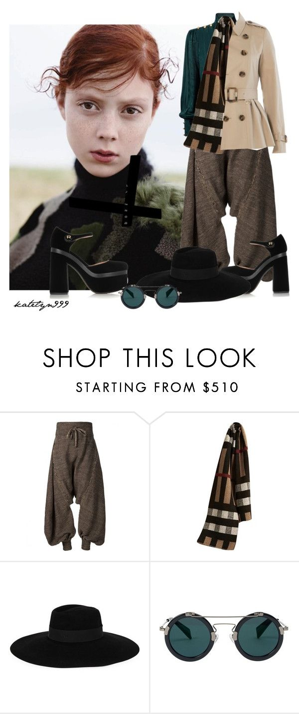 """""""Stay out of your comfort zone..."""" by katelyn999 ❤ liked on Polyvore featuring Balmain, Vivienne Westwood, Burberry, Maison Michel and Yohji Yamamoto"""