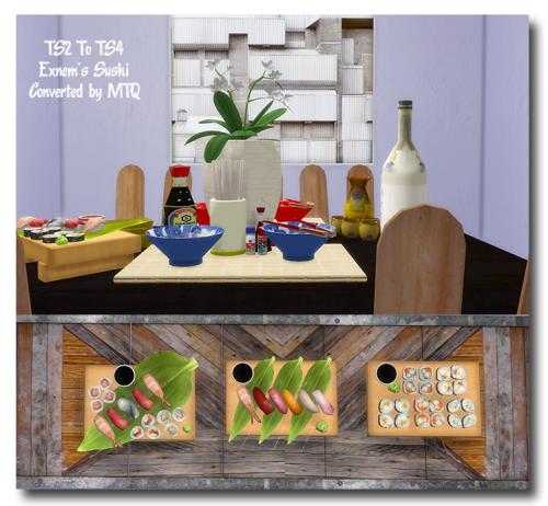 TS2 To TS4 - Exnem's Food - Sushi