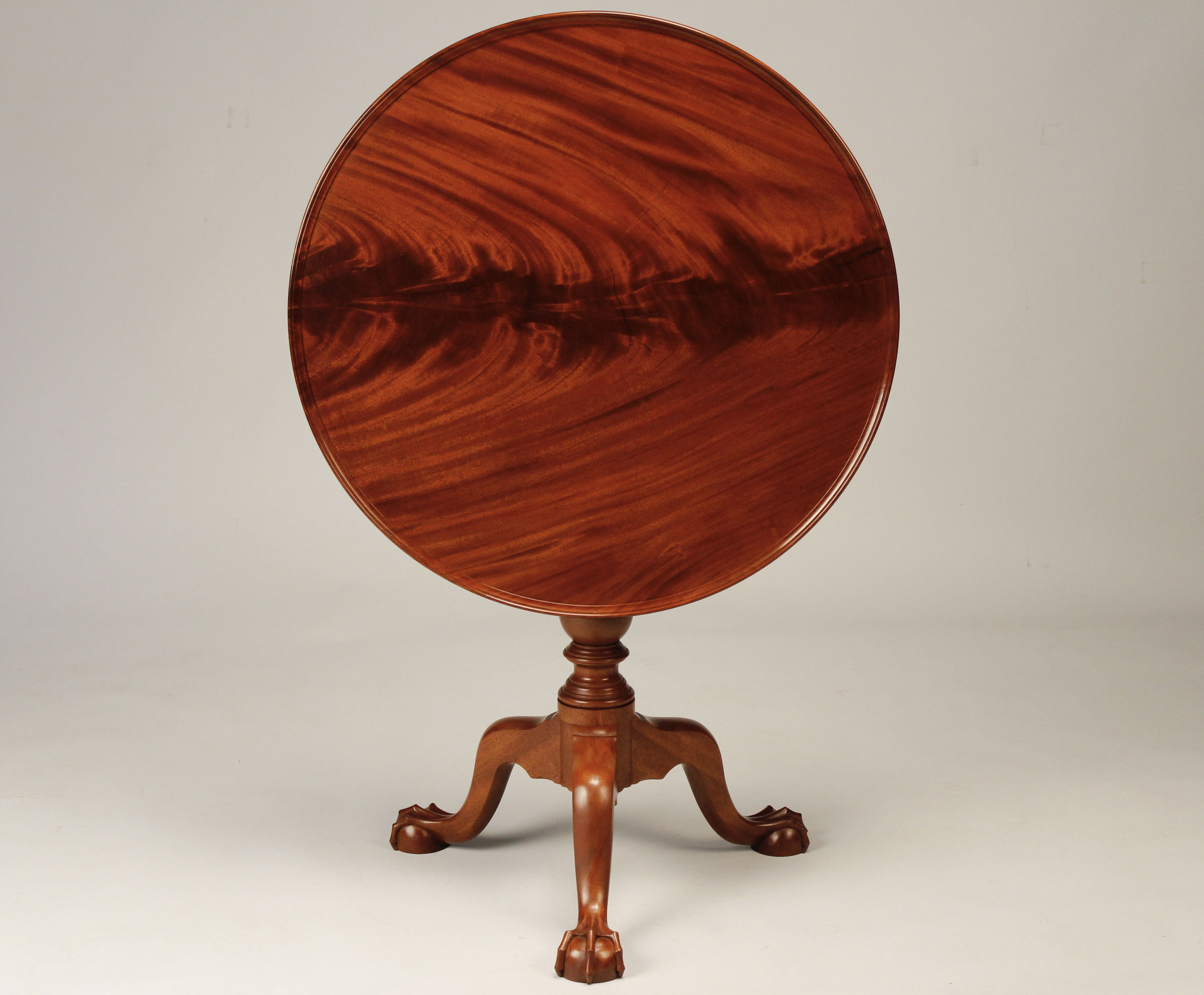 Tilt Top Tea Table With Solid Crotch Mahogany Top Tea Table Period Furniture Table