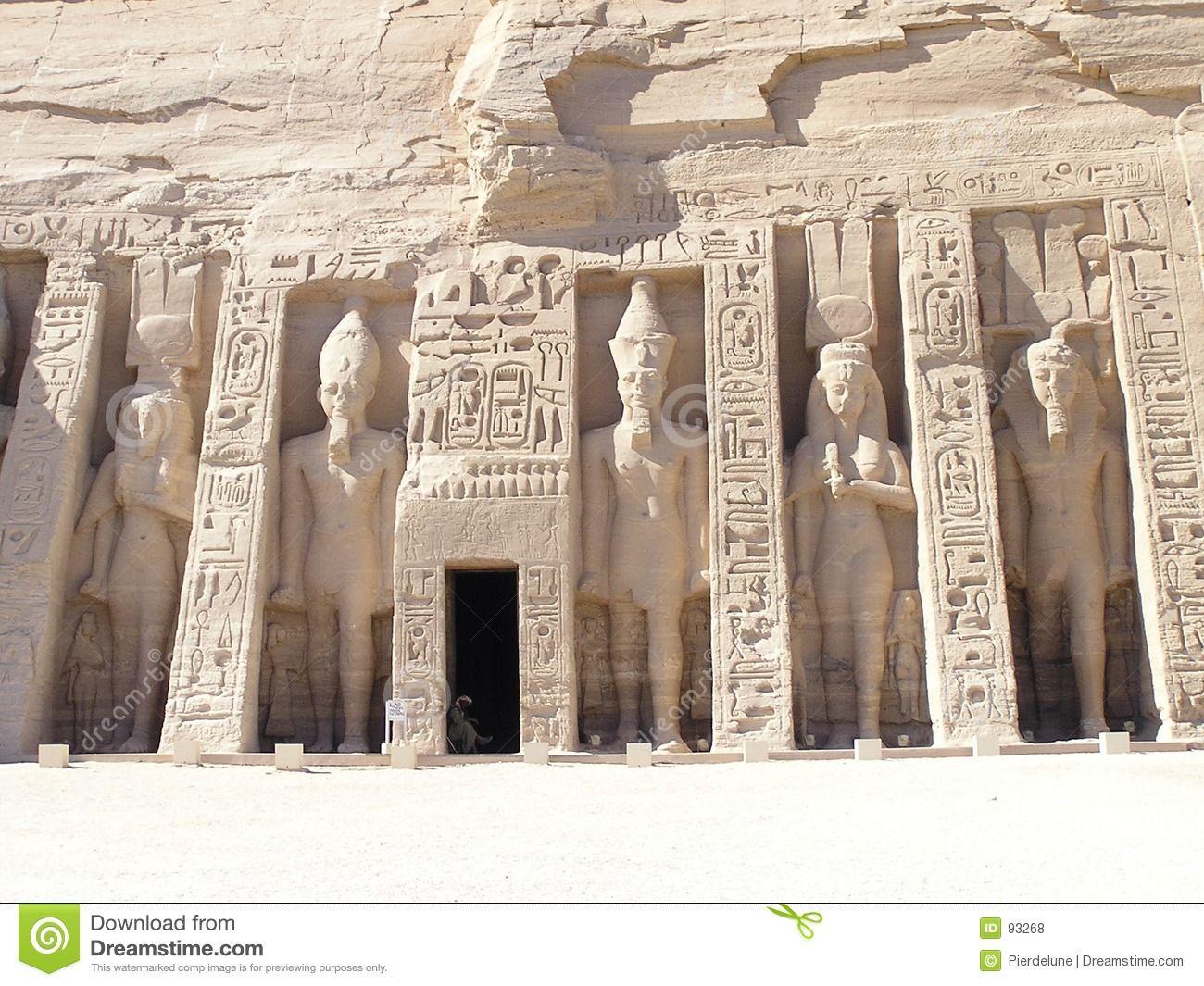 świątynia Nertari w Abu Simbel; fasada posagi Ramzesa i Nefertari;