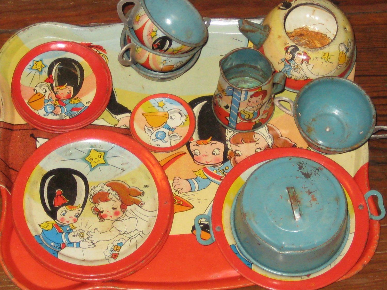 "1950's Ohio Art tea set ""The Wedding"""