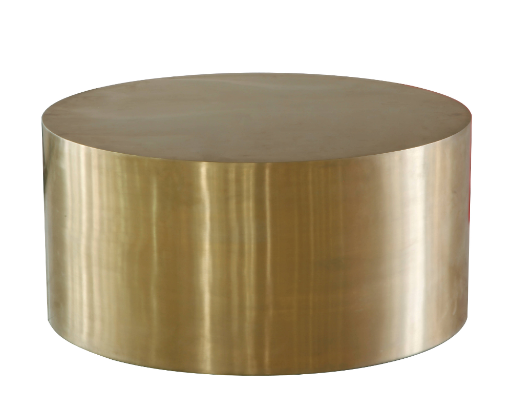 Lazzaro Cordoba Gold Drum Coffee Table In 2020 Drum Coffee