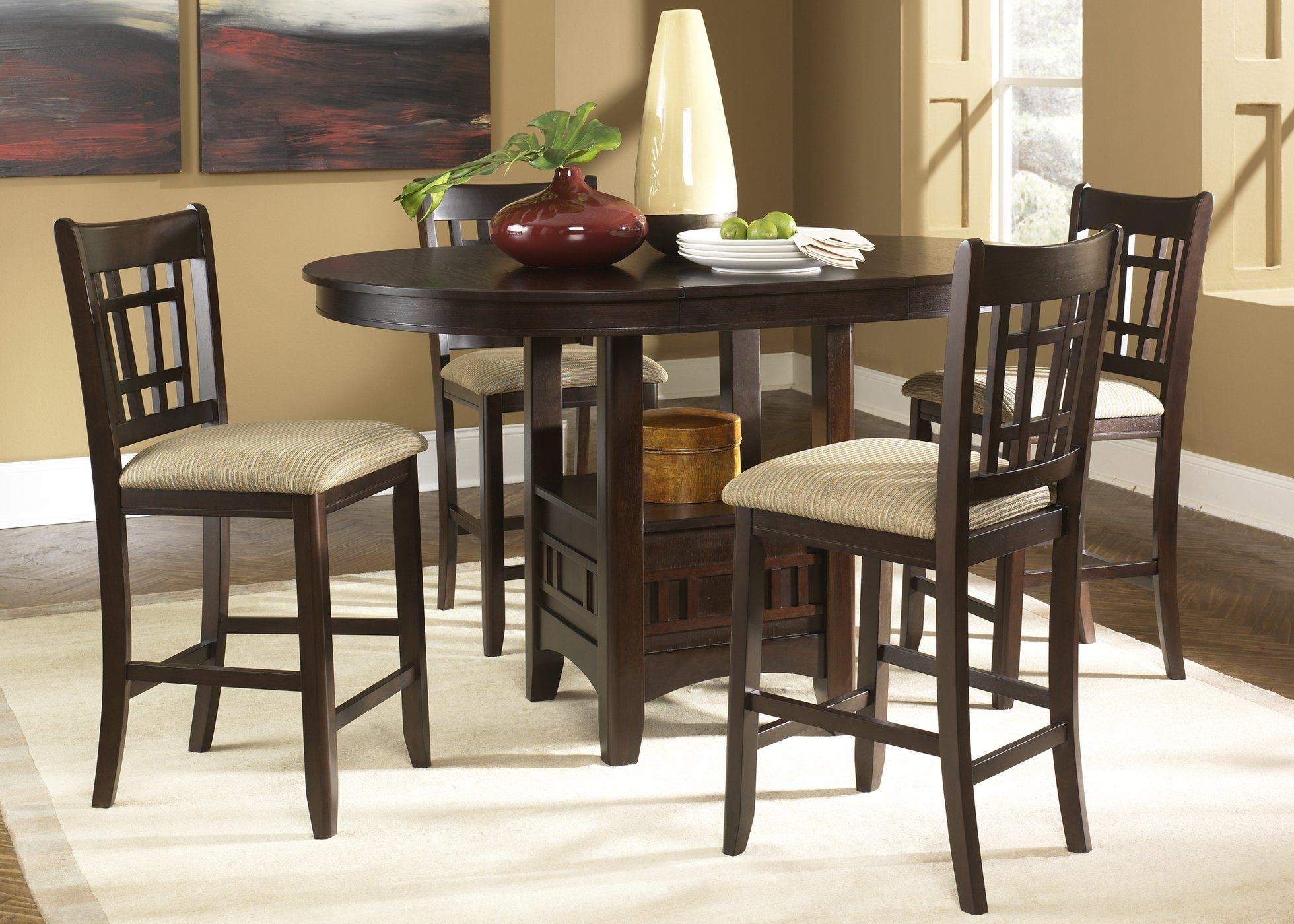 Santa Rosa Casual Dining 5 Piece Pub Set Pub Table And Chairs