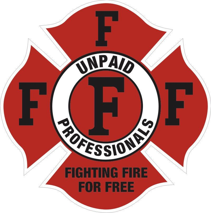 Firefighter Decals - Fighting Fire for Free 4