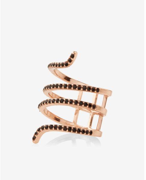 https://goo.gl/kC5lpK #ootd #Ring #Blogger Express pave coil ring