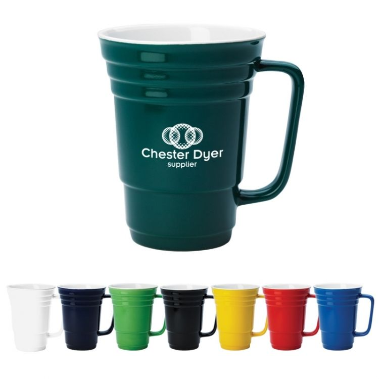 the Ceramic CUP 14 oz   Custom Promotional Coffee Mugs  The