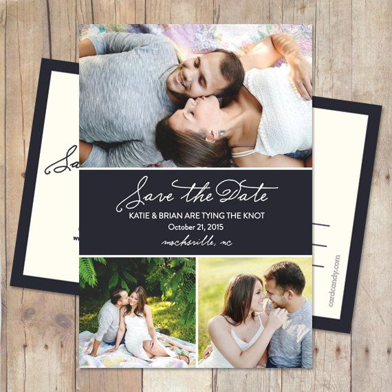 Simple Save-The-Date Card, Save The Date Postcard, Save The Date Magnet - Ribbon