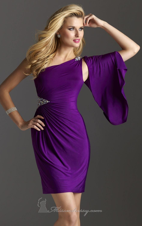 Asymmetrical Beaded Dress by Clarisse Shop it here: http://www ...