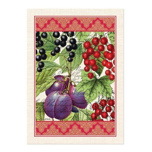 Michel Design Works Woven Cotton Kitchen Towel, Currant Michel Designs  Http://www