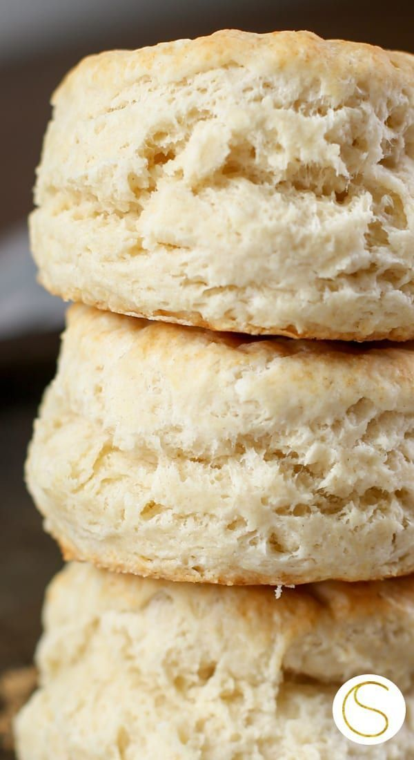 Easy homemade from scratch biscuits recipe using only six ingredients you already have on hand! Made with all butter and no buttermilk, these flaky, soft buttery biscuits are amazing! Make them this weekend! #biscuits #homemade #baking