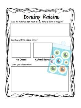 Mad Science Pack For Elementary Students Dancing Raisins Dancing Raisins Experiment Science