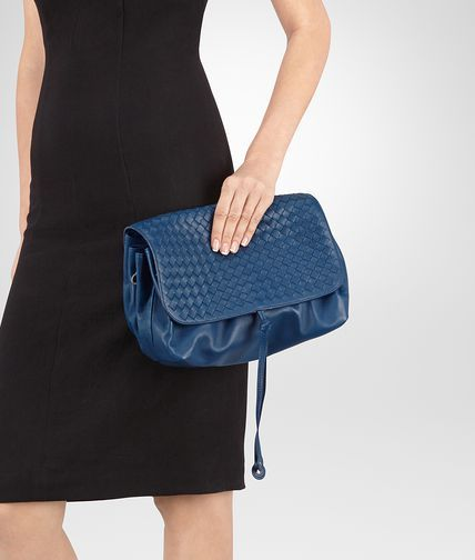... Shop Bottega Veneta® Womens MESSENGER BAG IN PACIFIC INTRECCIATO NAPPA.  Discover more details about ... 65db5d1c917b7