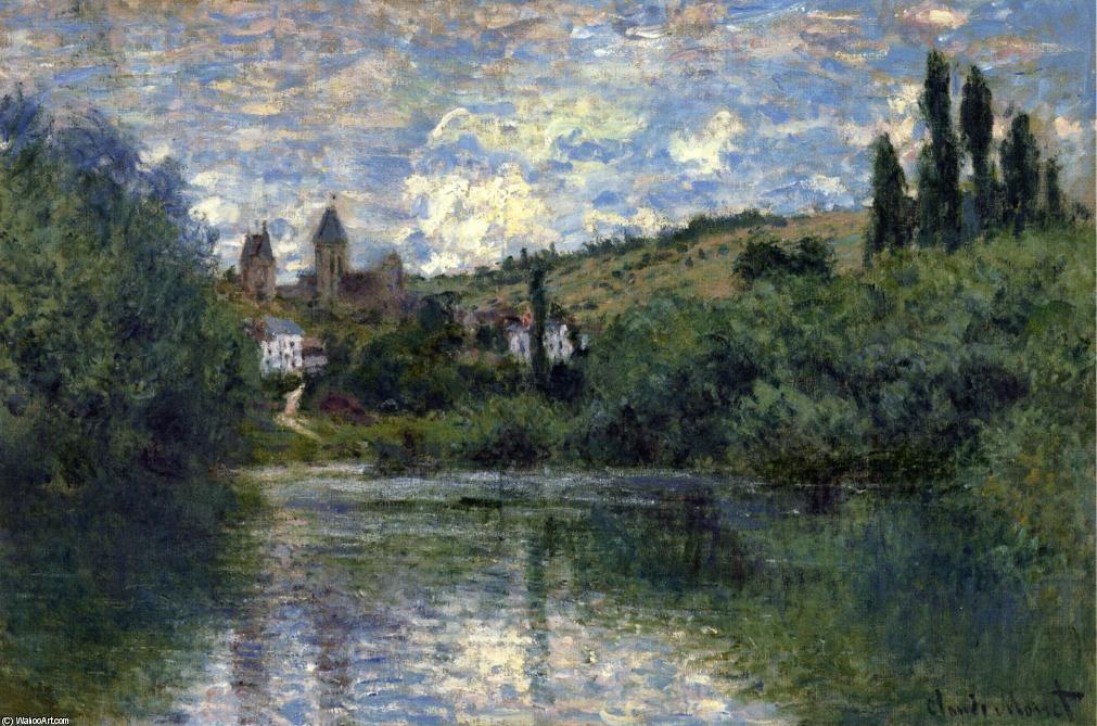 Vue de Vétheuil, huile sur toile de Claude Monet (1840-1926, France) |  Claude monet paintings, Monet oil paintings, Artist monet