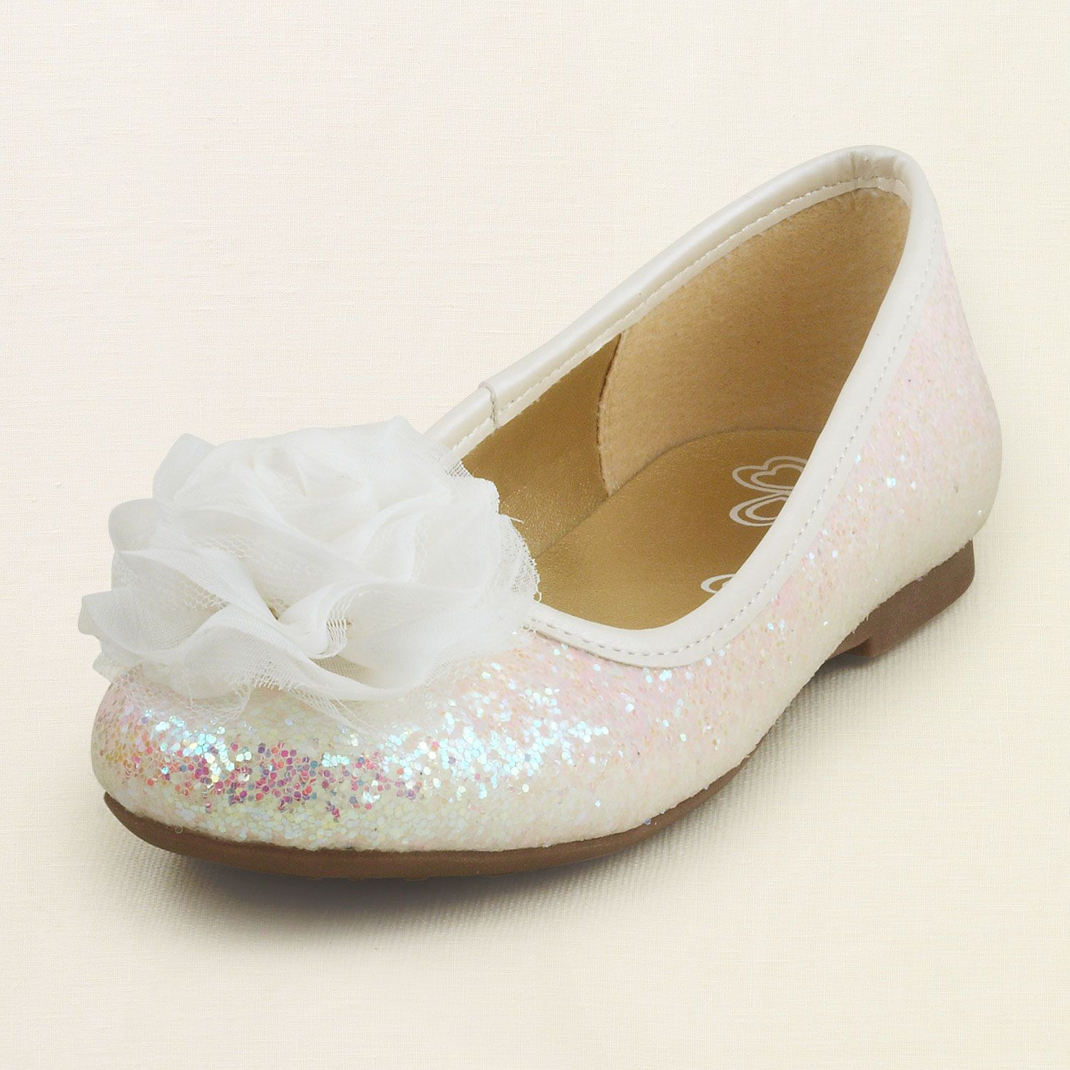 Sparkle Flower Ballet Flat Flower Girl Shoes The Childrens Place