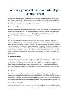 Writing Your Self Assessment  By Holymoleyjobs Uk Jobs  Newspaper