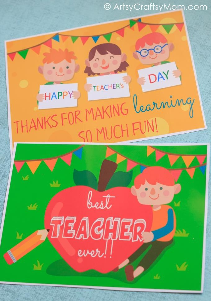 Teachers Day Card Making Ideas Part - 28: 20 Awesome Teachersu0027 Day Card Ideas With Free Printables