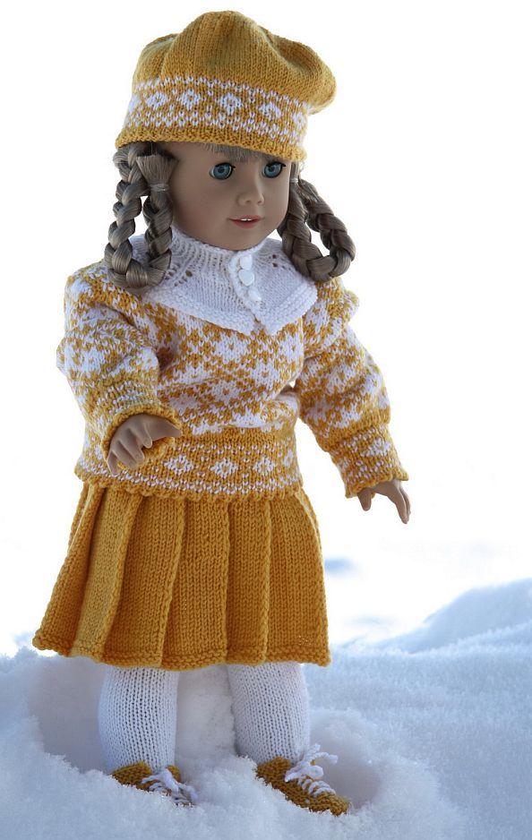 0017 design KIRSTEN pattern   Doll-knitting-patterns from Malfrid ...