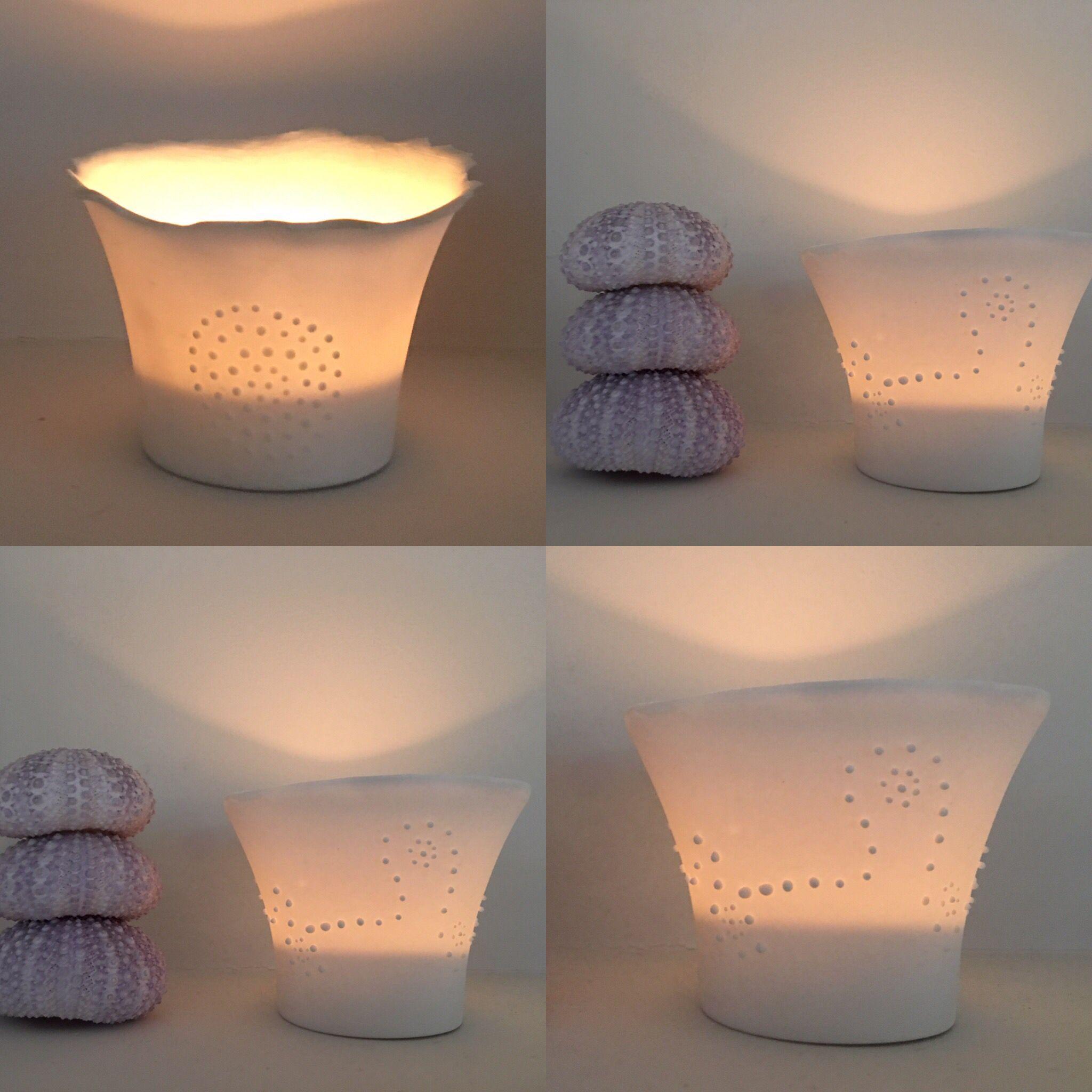 Bone china translucent tealights. So thin, so pure! Magic!