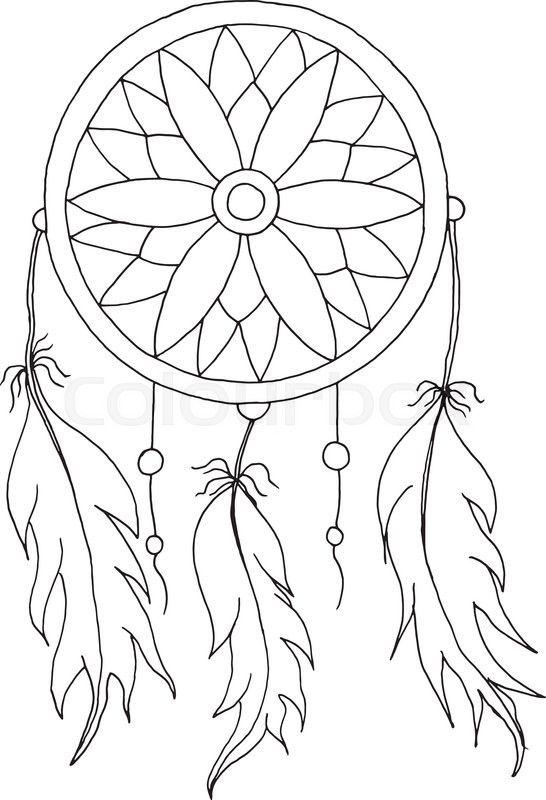 16444112 Hand To Draw A Dreamcatcher Jpg 546 800 Dream Catcher Coloring Pages Dreamcatcher Drawing Dream Catcher Art