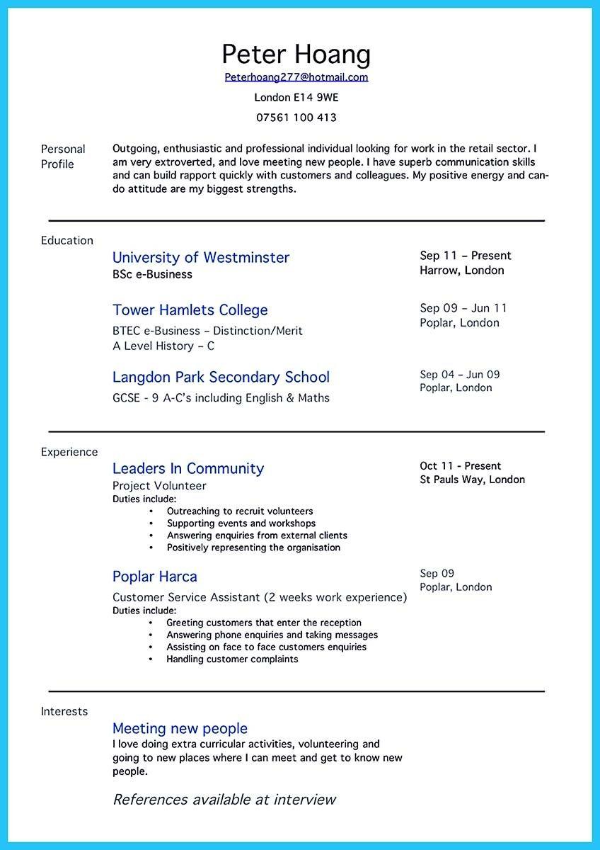 Pin On Resume Template Resume No Experience Resume