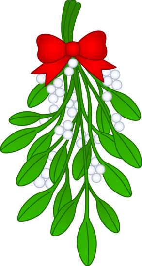 christmas mistletoe with red bow free clip art christmas holiday rh pinterest com mistletoe leaf clipart mistletoe clipart black and white