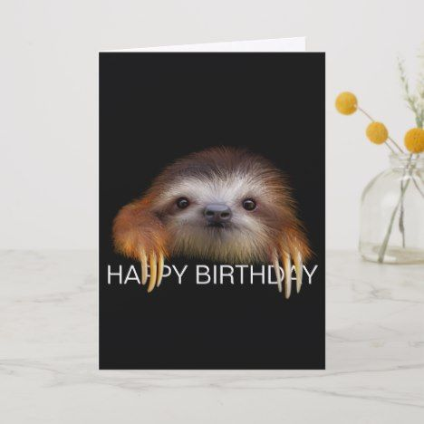 Baby Sloth Birthday Card | Zazzle.com #babysloth
