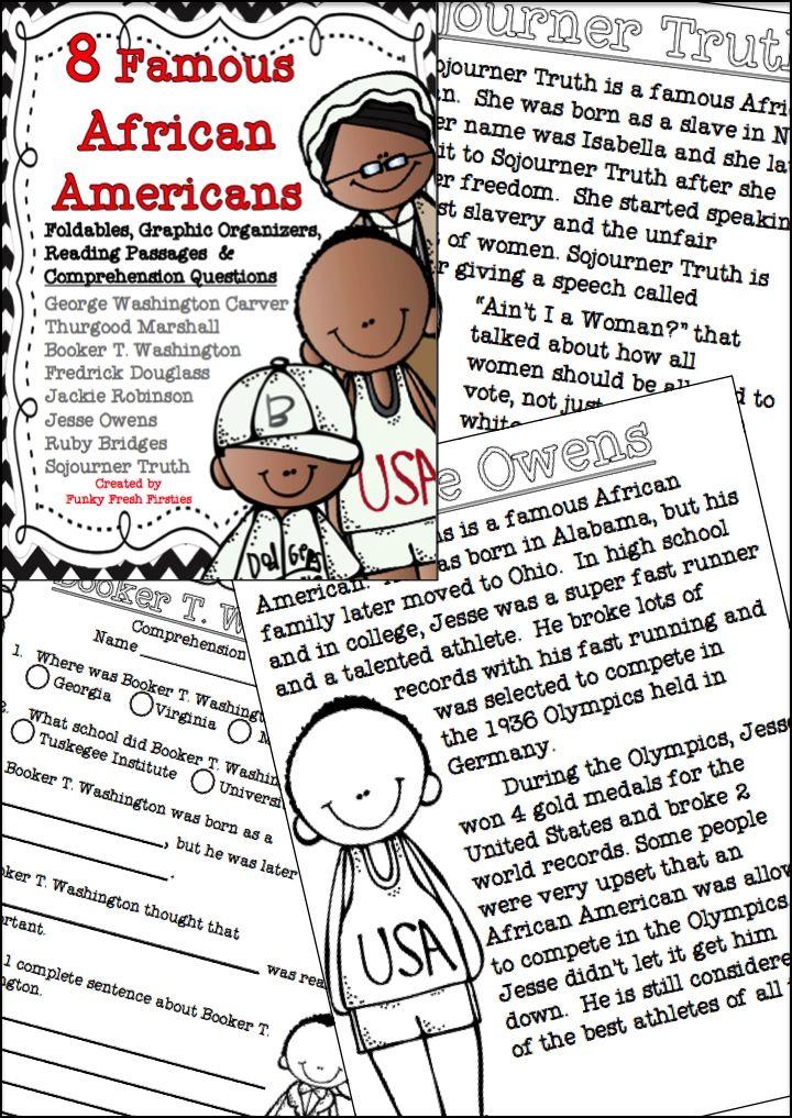Activists: Frederick Douglas, Booker T. Washington and Sojourner Truth