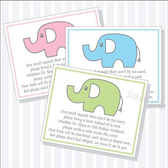 Baby Shower Books Instead Of Cards ~ Printable baby shower book request instead of card