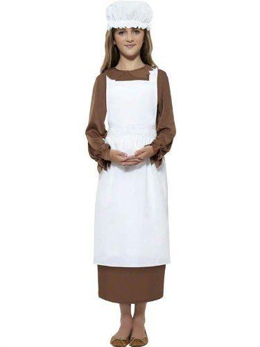 Victorian Mop Hat Ladies Fancy Dress White Maid Bonnet Adults Costume Accessory