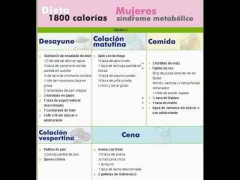 Dieta 1800 calorias hombre mexico