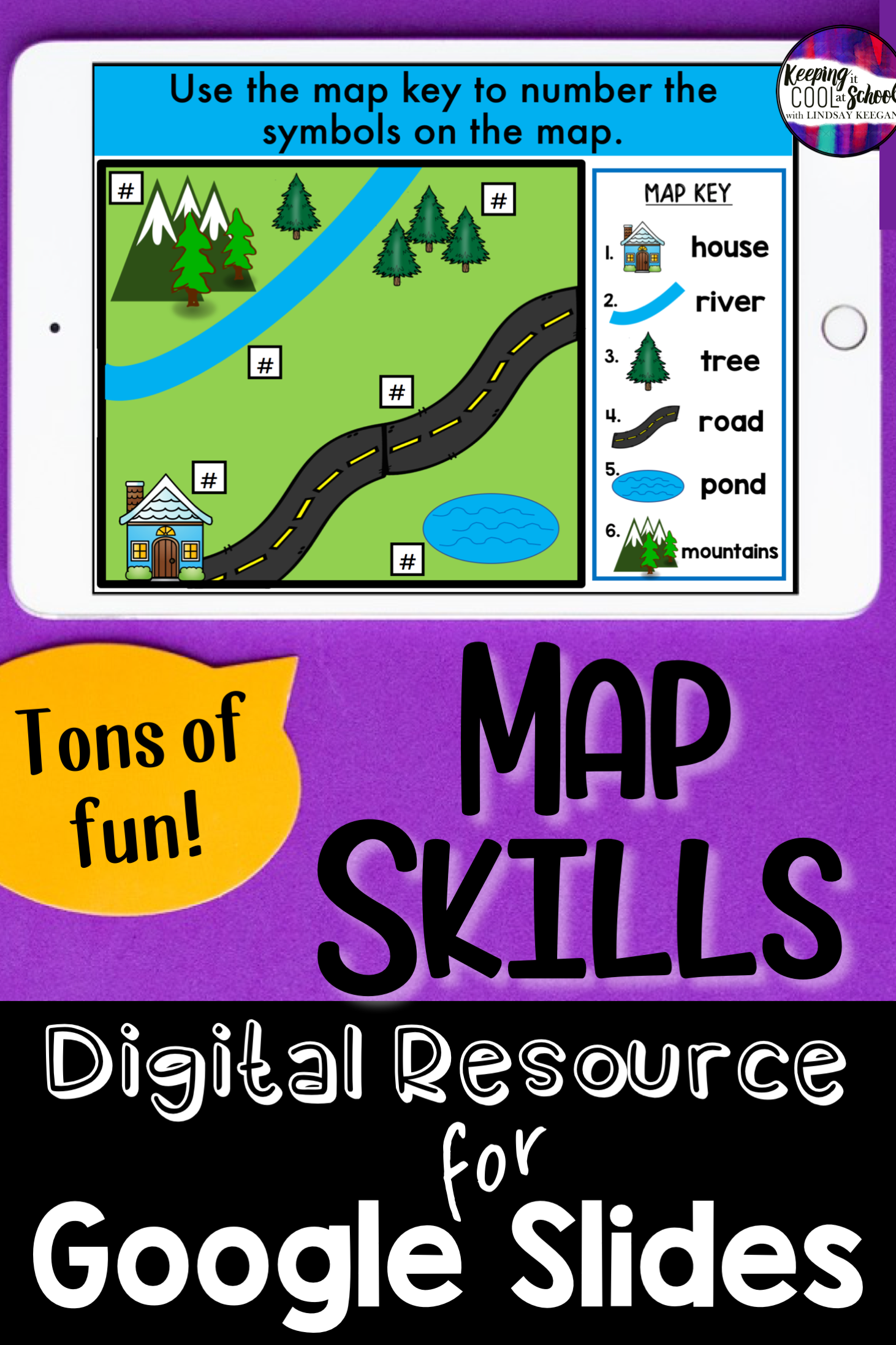 Map Skills Digital Activities For Google Slides Distance Learning Map Skills Teaching Maps First Grade Worksheets