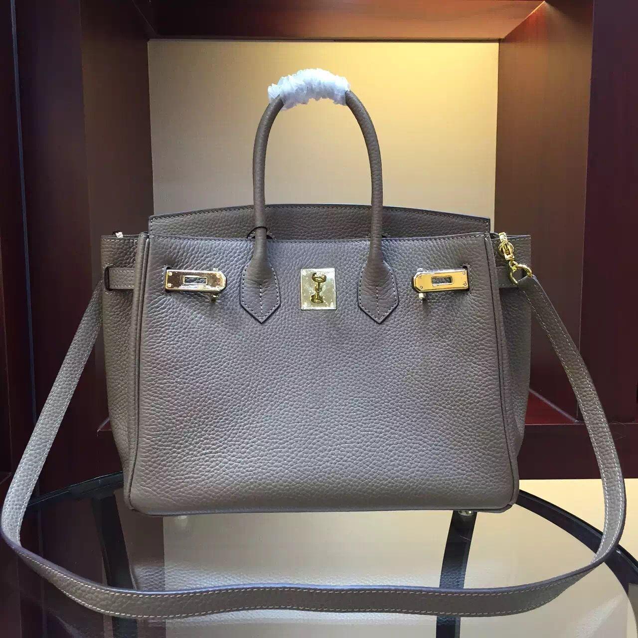 Hermes Togo Clafksin Birkin 30 Bag with Strap in Dark Grey(Gold Hardware) f33728b0c0