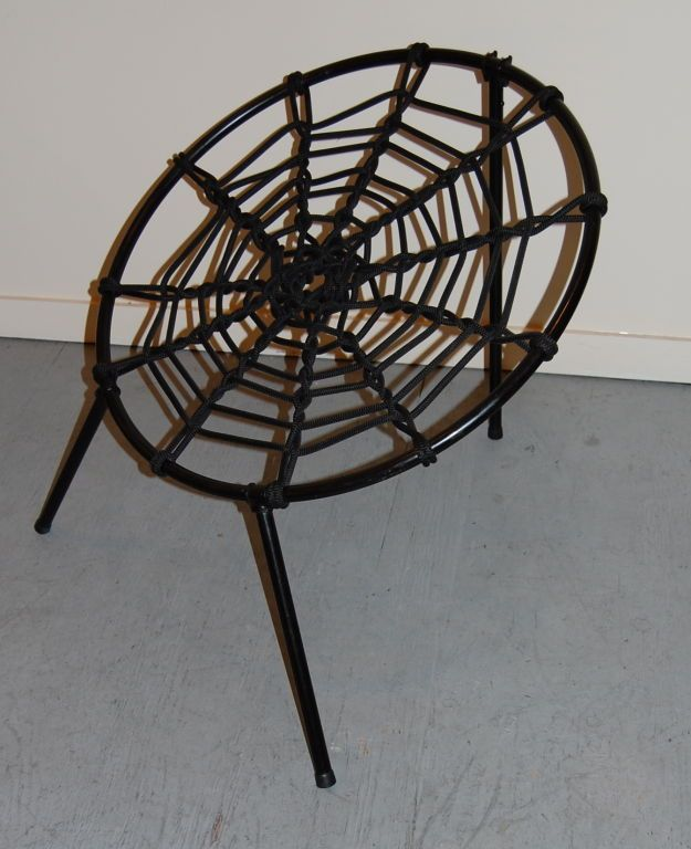 Spider Web Folding Chairs By Hoffer