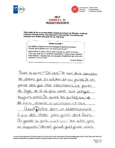 Compréhension De L Oral A2 Echantillons De Productions Orales Et Ecrites Selon Les Niveaux Du