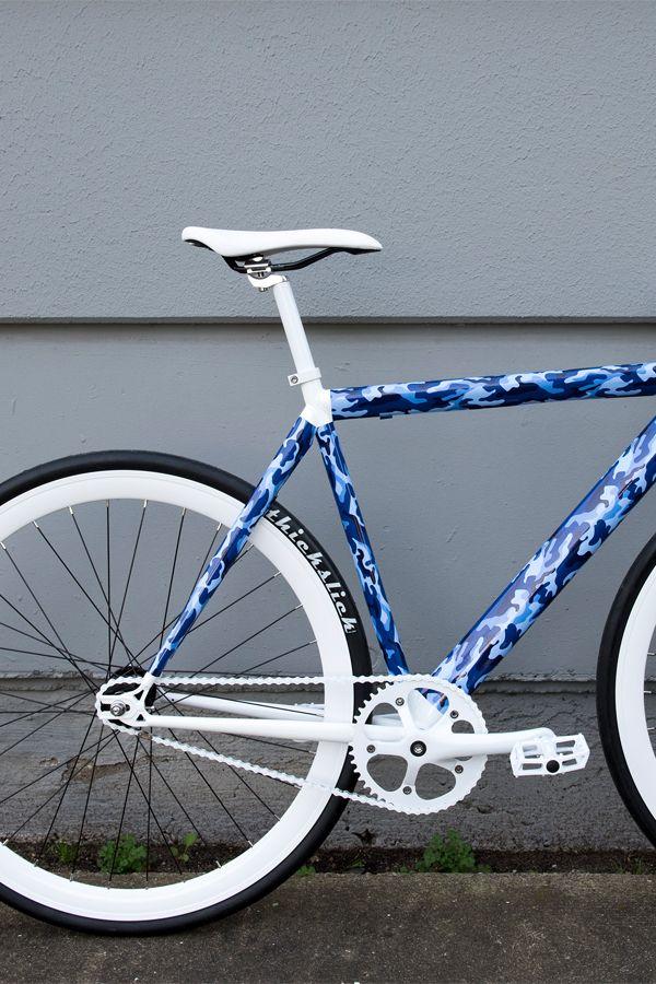 Radkleid Bikedress Bike Camouflage Bewild Blue Outdoor