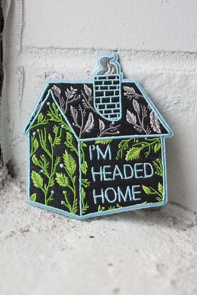 Headed Home iron-on patch - Stay Home Club